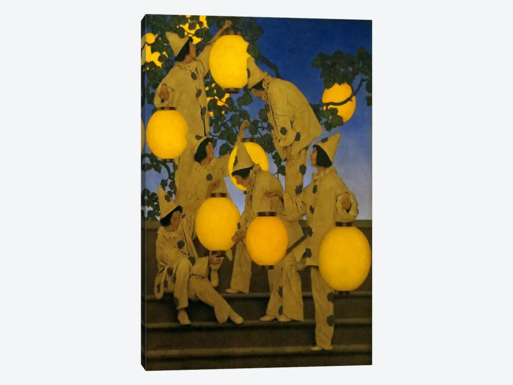 The Lantern Bearers by Maxfield Parrish 1-piece Canvas Artwork