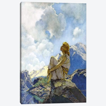 Morning Canvas Print #MXP7} by Maxfield Parrish Canvas Art