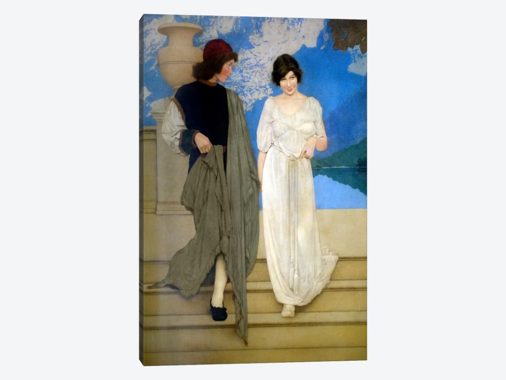 A Florentine Fete by Maxfield Parrish 1-piece Canvas Wall Art