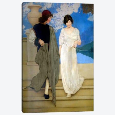 A Florentine Fete Canvas Print #MXP8} by Maxfield Parrish Art Print
