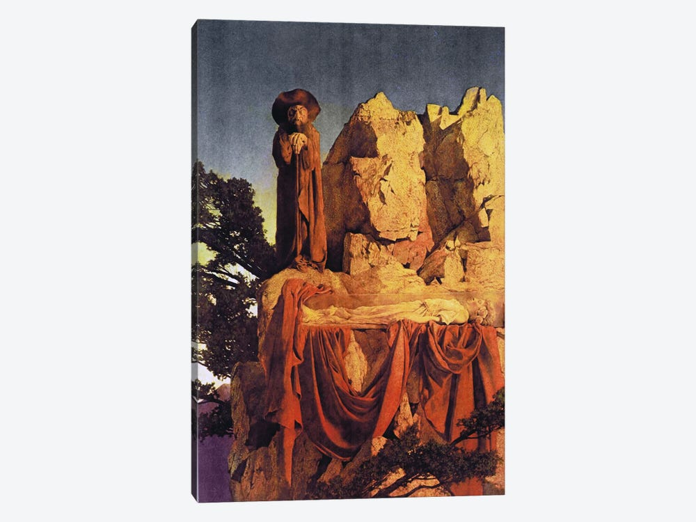 From the Story of Snow White by Maxfield Parrish 1-piece Canvas Art Print