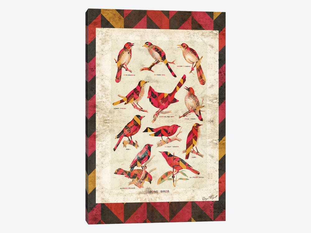 Song Birds V2 by Diego Tirigall 1-piece Canvas Print