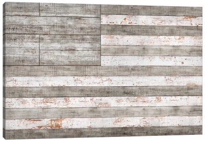 Stars & Stripes in White Canvas Art Print