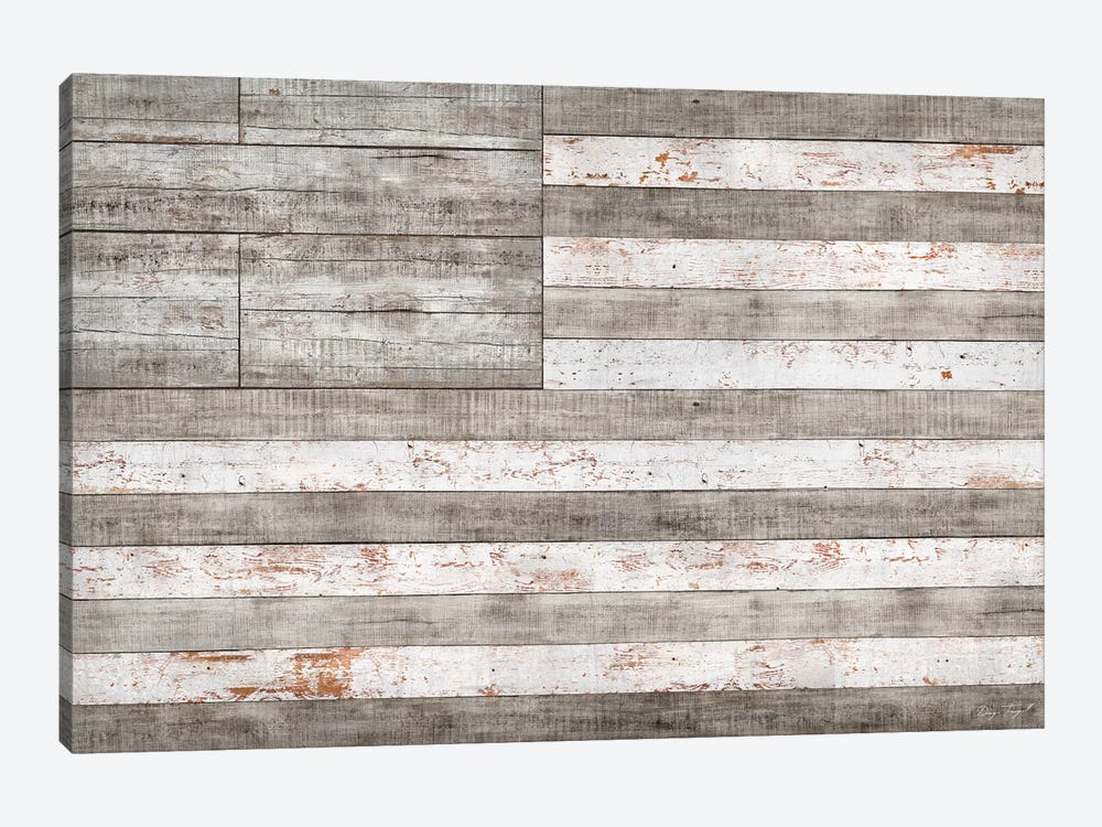 Stars & Stripes in White 1-piece Canvas Wall Art