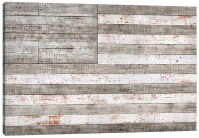 Stars & Stripes in White Canvas Art Print
