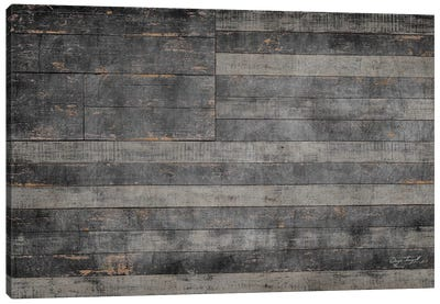 Stars & Stripes in Black Canvas Art Print