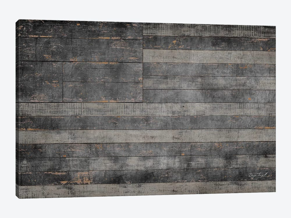 Stars & Stripes in Black by Diego Tirigall 1-piece Canvas Art Print