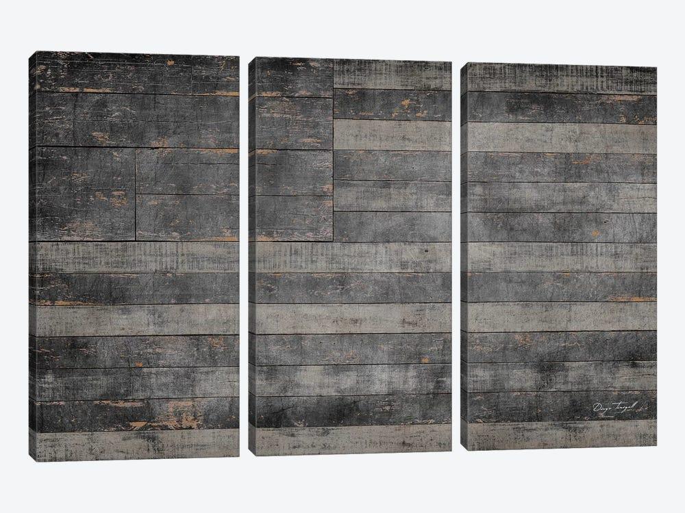 Stars & Stripes in Black by Diego Tirigall 3-piece Canvas Print
