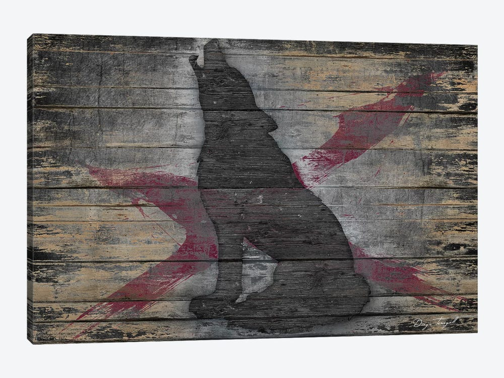 Lone Wolf by Diego Tirigall 1-piece Canvas Wall Art