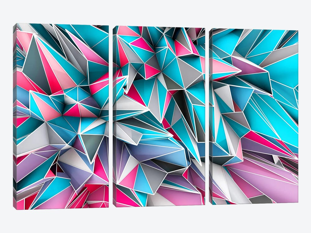 Kaos Sky 3-piece Canvas Artwork