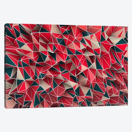 Kaos Red Canvas Print #MXS11} by Diego Tirigall Canvas Artwork