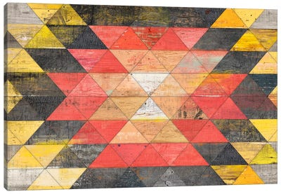 Reclaimed Triangle Pattern Canvas Art Print