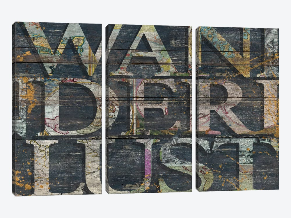 Reclaimed Wanderlust by Diego Tirigall 3-piece Canvas Print