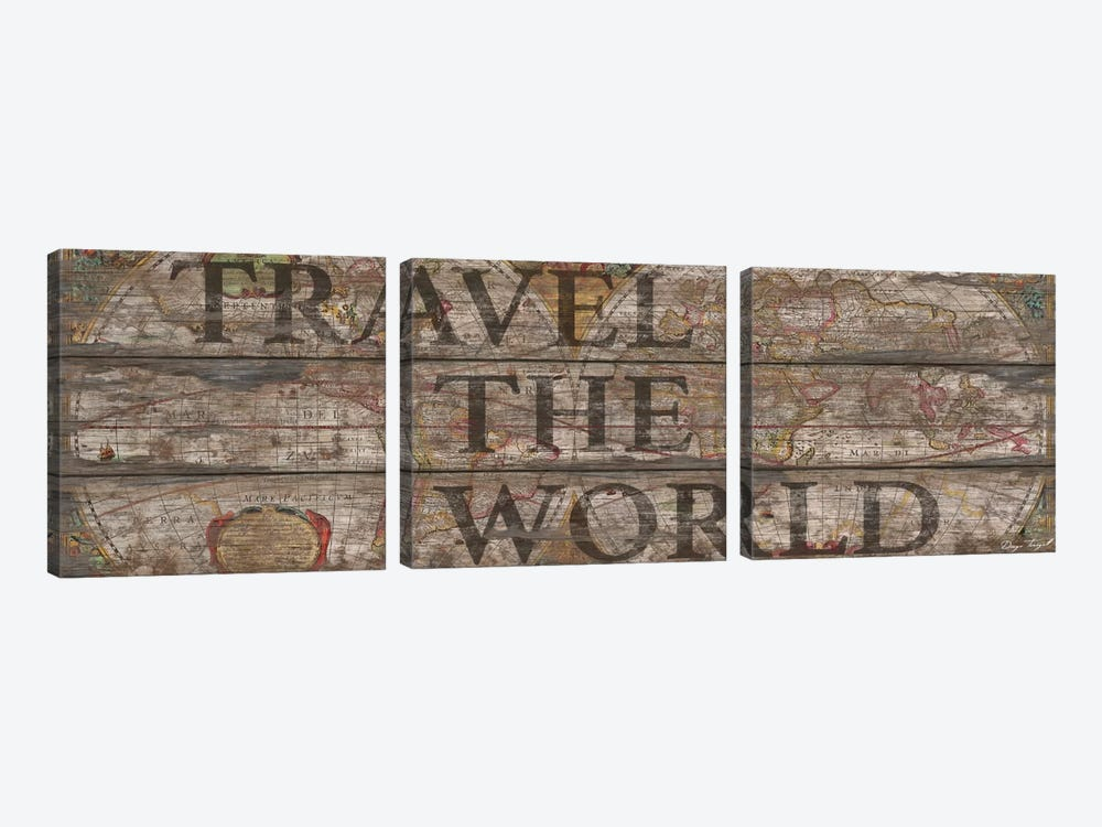Travel The World by Diego Tirigall 3-piece Canvas Wall Art