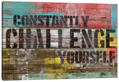 Constantly Challenge Yourself Canvas Print #MXS126