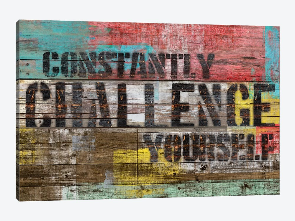 Constantly Challenge Yourself 1-piece Canvas Wall Art