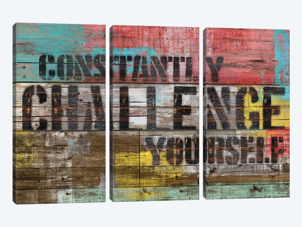 Constantly Challenge Yourself by Diego Tirigall 3-piece Canvas Artwork