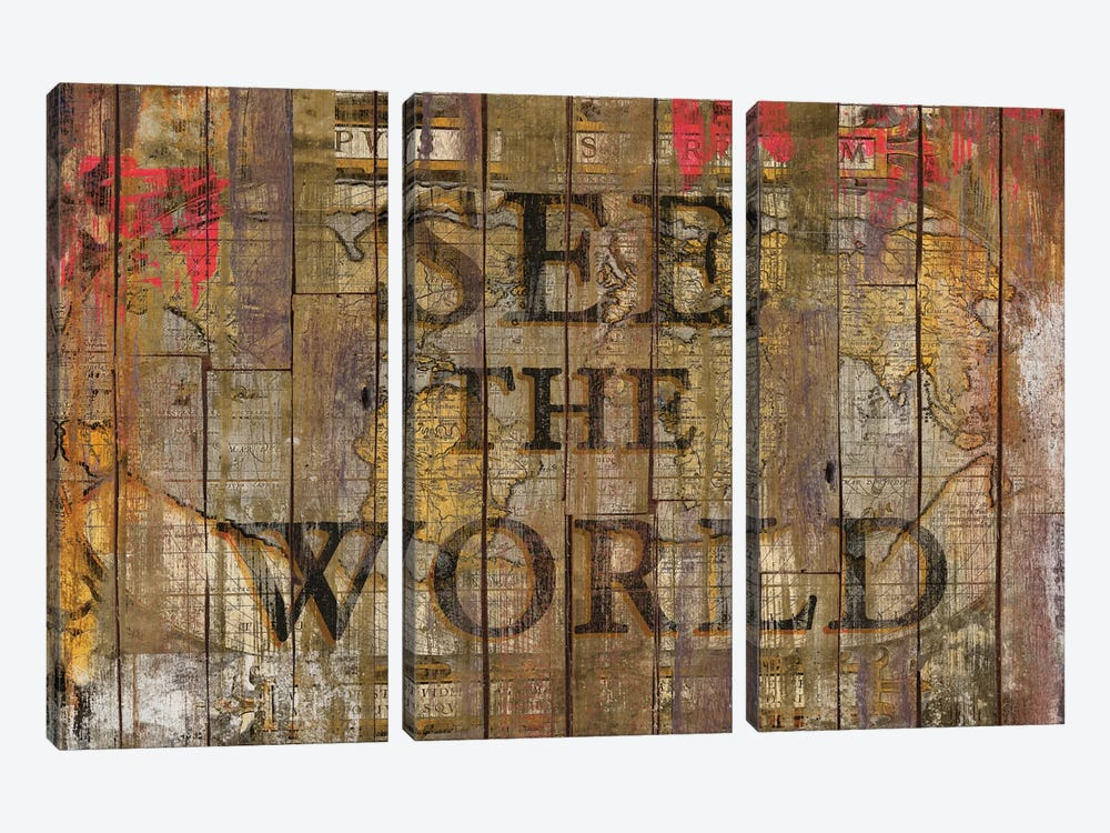 See The World by Diego Tirigall 3-piece Canvas Print
