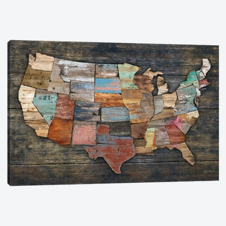 USA Map I Canvas Print #MXS128} by Diego Tirigall Canvas Art