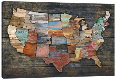 USA Map I Canvas Art Print