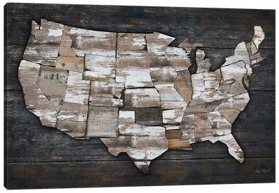 USA Map II Canvas Art Print