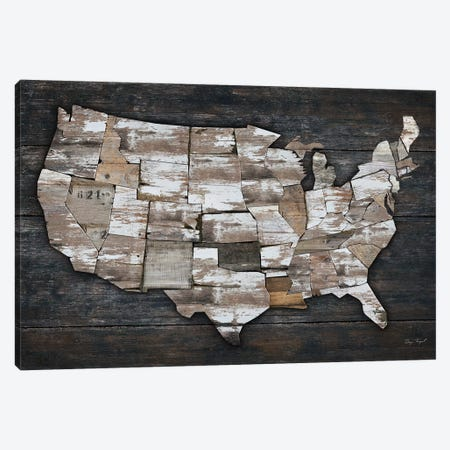 USA Map II Canvas Print #MXS129} by Diego Tirigall Canvas Artwork