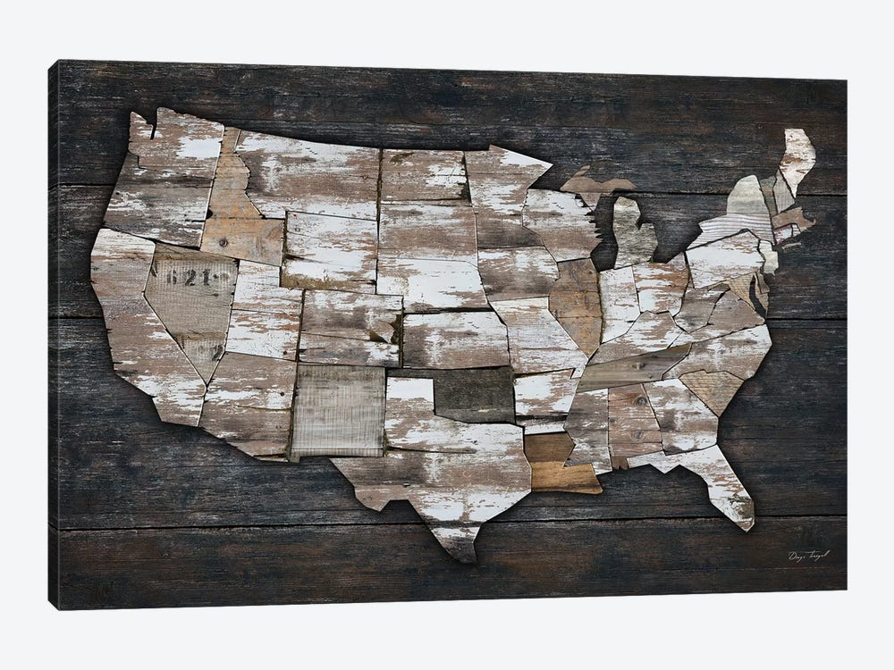 USA Map II by Diego Tirigall 1-piece Art Print