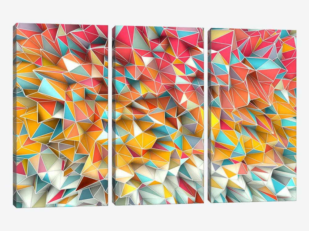 Kaos Summer by Diego Tirigall 3-piece Canvas Wall Art
