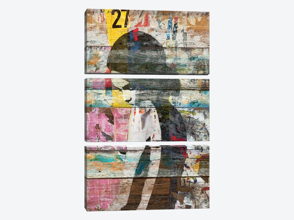 Shyness (Profile Of Child) by Diego Tirigall 3-piece Canvas Wall Art
