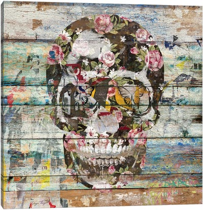 Under The Watchful Eye (Skull) Canvas Art Print