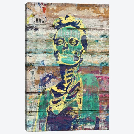 Life And Death (Sugar Skull Girl) Canvas Print #MXS134} by Diego Tirigall Canvas Artwork