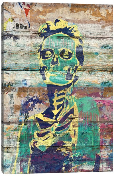 Life And Death (Sugar Skull Girl) Canvas Art Print