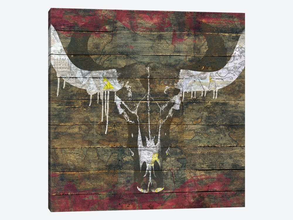 Two Sides (Cow Skull) by Diego Tirigall 1-piece Canvas Artwork