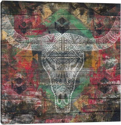 Ancestors (Cow Skull) Canvas Art Print