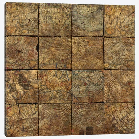Deconstruction (Map Squares) Canvas Print #MXS141} by Diego Tirigall Canvas Art