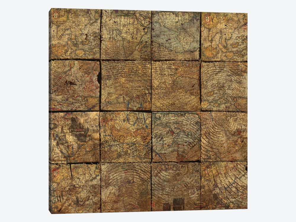 Deconstruction (Map Squares) by Diego Tirigall 1-piece Art Print