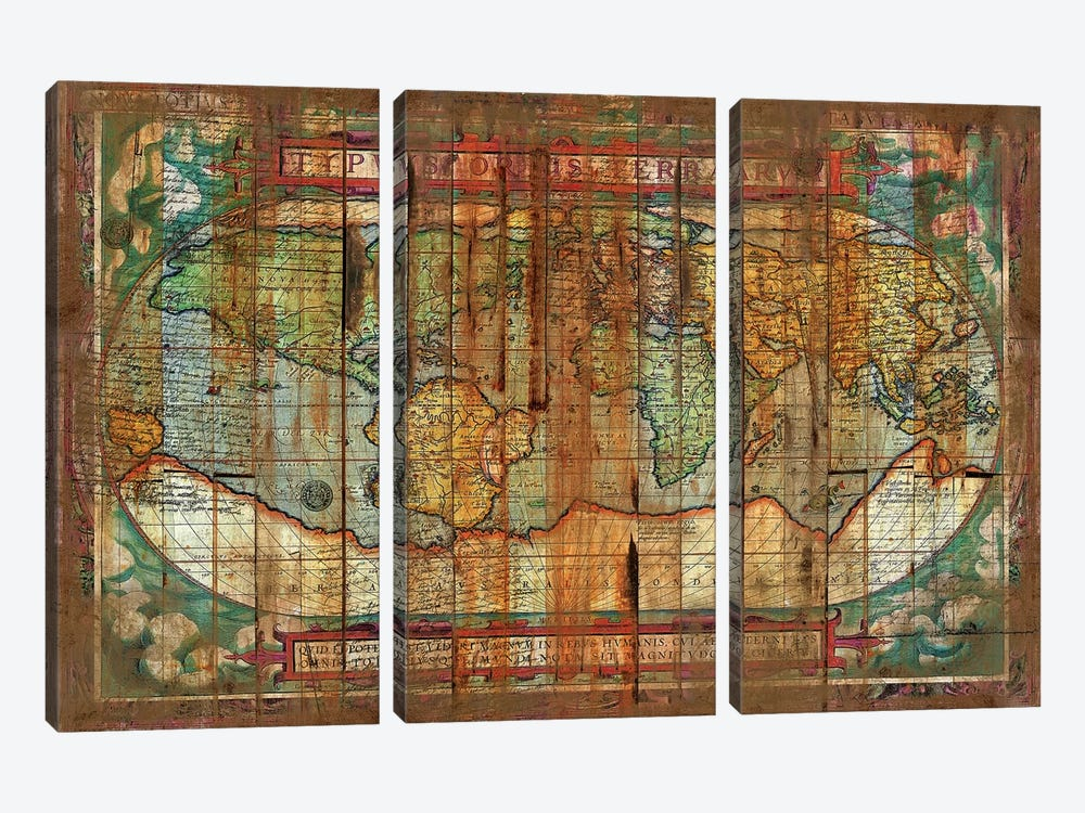 Antique World 3-piece Canvas Artwork