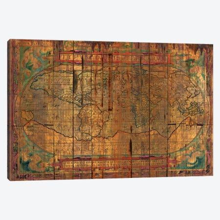 Distressed Old Map Canvas Print #MXS145} by Diego Tirigall Canvas Art Print