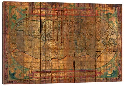 Distressed Old Map Canvas Art Print