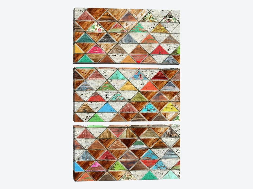 Love Pattern by Diego Tirigall 3-piece Canvas Wall Art