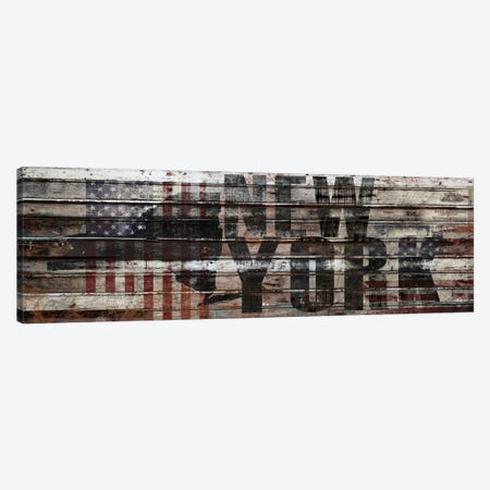 New York Distressed Canvas Print #MXS154} by Diego Tirigall Canvas Artwork