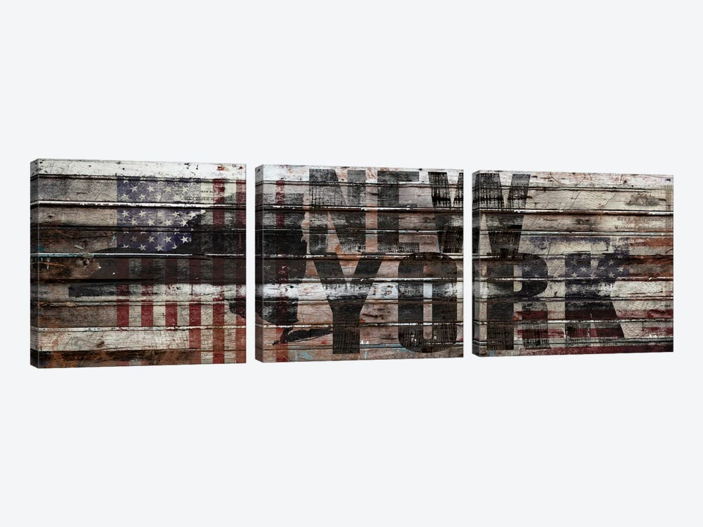 New York Distressed by Diego Tirigall 3-piece Canvas Art Print