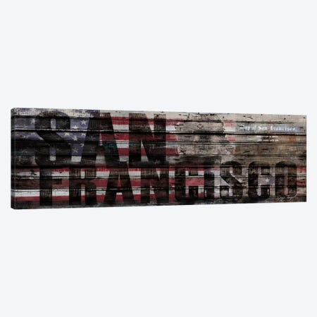 San Francisco Distressed Canvas Print #MXS157} by Diego Tirigall Canvas Wall Art