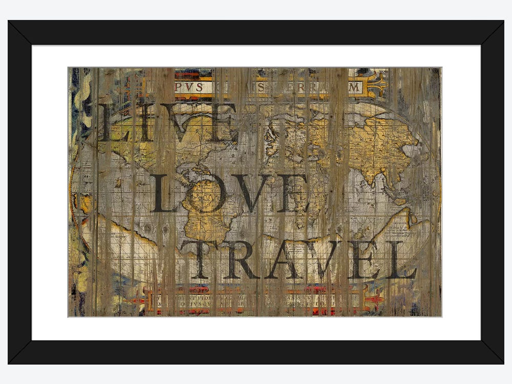 Live Love Travel Framed Print By Diego Tirigall Icanvas