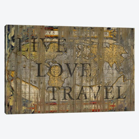 Live Love Travel Canvas Print #MXS15} by Diego Tirigall Art Print