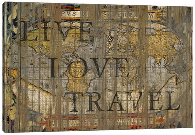 Live Love Travel Canvas Print #MXS15
