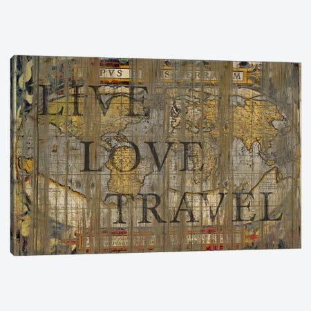 Live Love Travel Canvas Print #MXS15} by Diego Tirigall Art Print