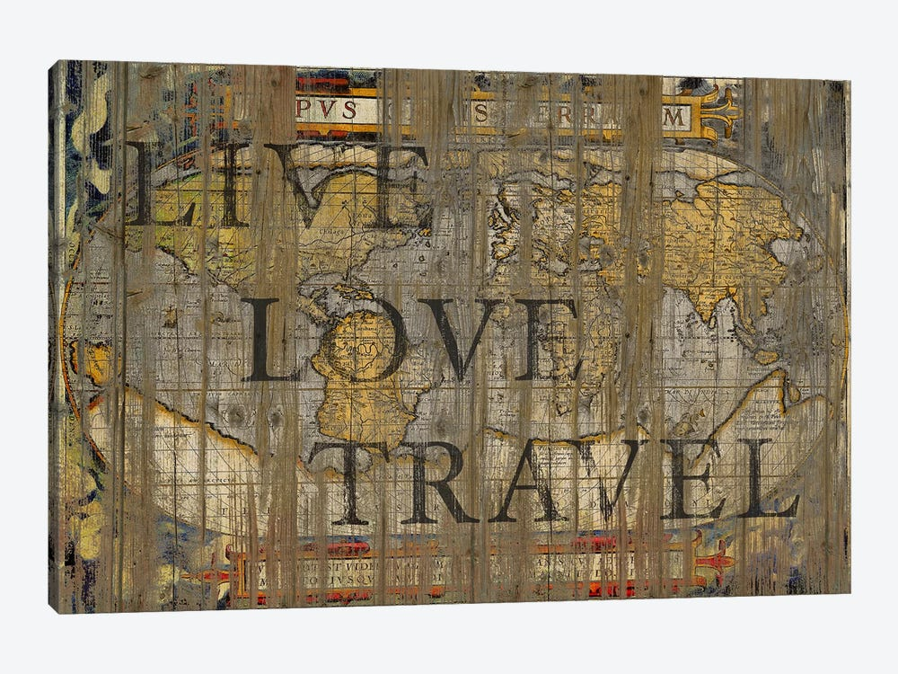 Live Love Travel by Diego Tirigall 1-piece Canvas Art Print