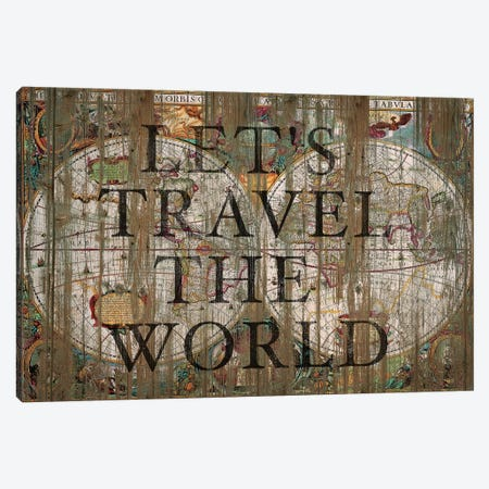 Let's Travel The World Canvas Print #MXS169} by Diego Tirigall Canvas Wall Art
