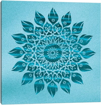Deep Meditation Mandala Canvas Art Print